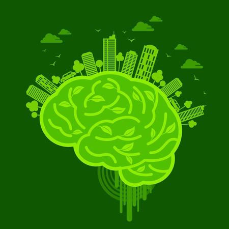 desarrollo sustentable: ecología concepto de diseño Vectores