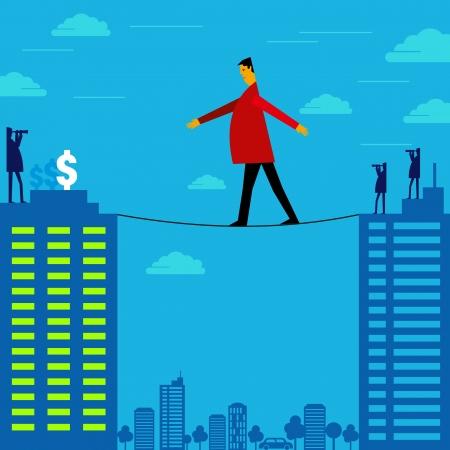 risky way to achieve money Vector