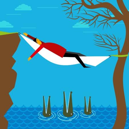 careless: careless businessman concept Illustration