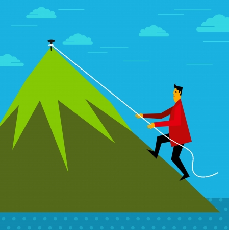 Climbing up - business concept Vector