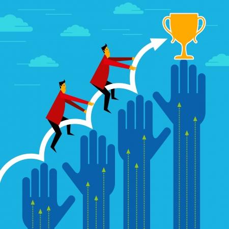 Geschäftsmann Gewinner - Breakthrough-Konzept Illustration