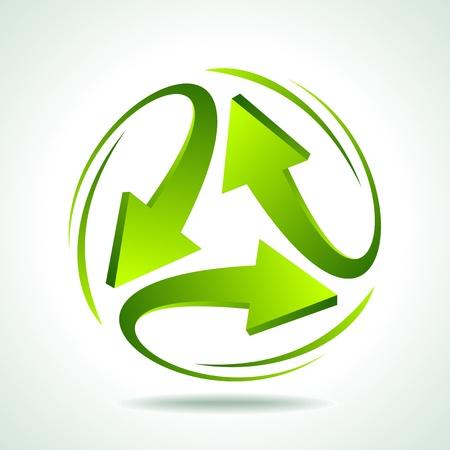 Darstellung recycle Pfeil auf wei?m Hintergrund