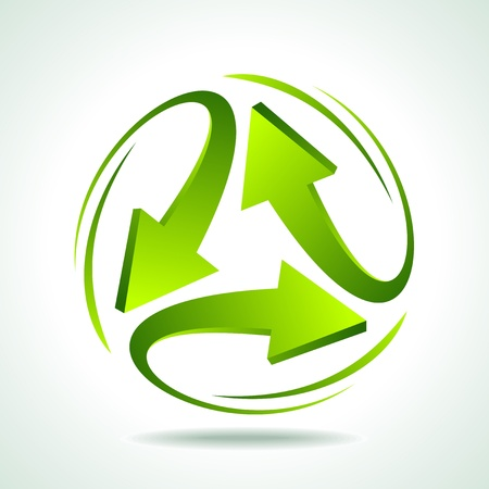 abstract recycle arrows: illustration of recycle arrow on isolated background Illustration