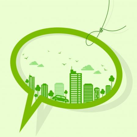 desarrollo sustentable: verde concepto de la tierra-ecología Vectores