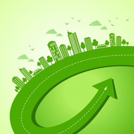 garden city: verde concepto de la tierra-ecolog?a