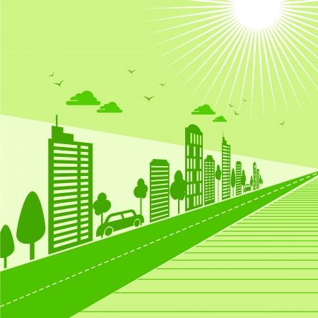 terre verte écologie concept de