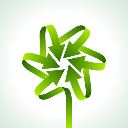 environmental awareness: illustration of recycle arrow on isolated background Illustration