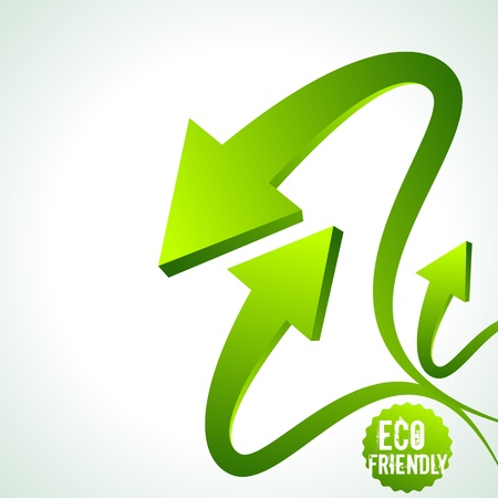 illustration of recycle arrow on isolated background Stock Vector - 18210814