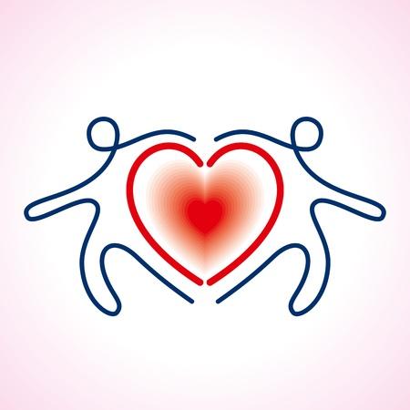 position d amour: Les gens connect�s Le symbole du c?ur