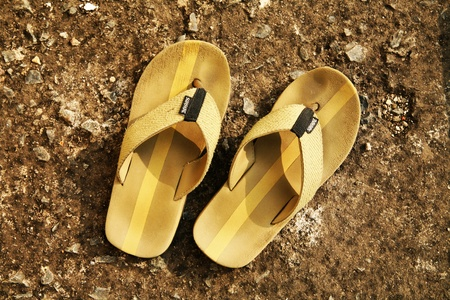 flop: flip flop slippers on background Stock Photo