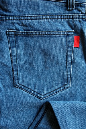 cloth back: square texture image of a jeans pocket