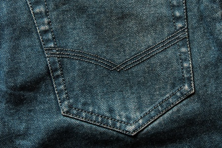 square texture image of a jeans pocket Stock Photo - 19462953