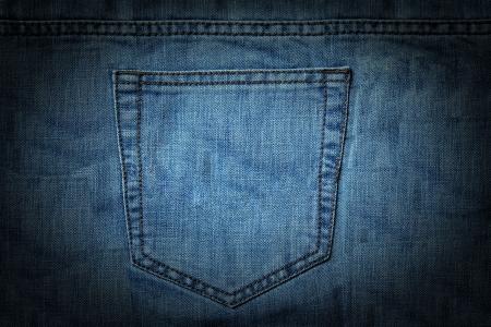 quadratischen Textur Bild von einem Jeans-Tasche