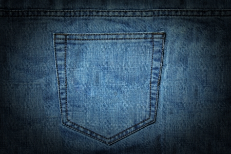 jeans pocket: square texture image of a jeans pocket