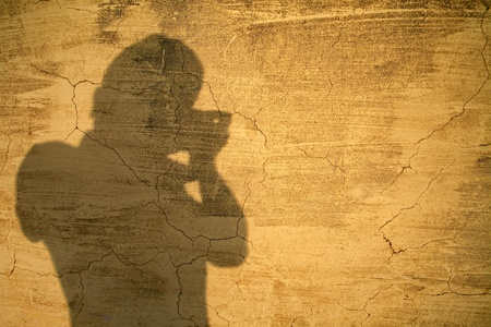 photographar shadow on old texture wall Stock Photo - 19463179