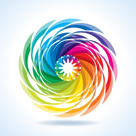 chromatic colour: abstract colorful design