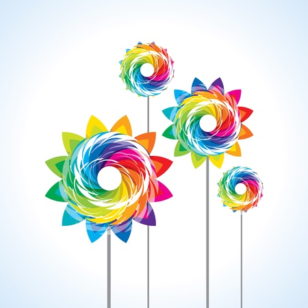 Illustration isoliert ein Spielzeug Windrad auf weißem Hintergrund Illustration