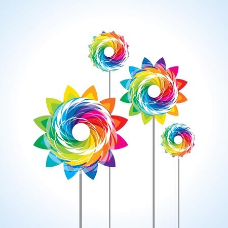 wind wheel: illustrazione di isolato una girandola giocattolo su sfondo bianco Vettoriali