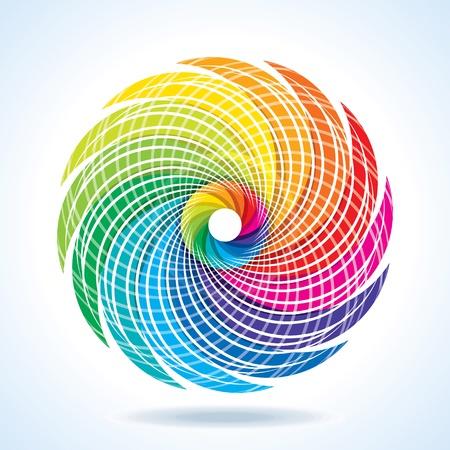 leíró szín: Absztrakt színes tervezés Illusztráció