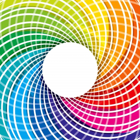 circulos concentricos: colorido dise�o abstracto