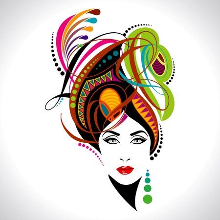 womanish: beautiful fashion women portrait