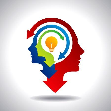 ontwikkeling: business idee Stock Illustratie