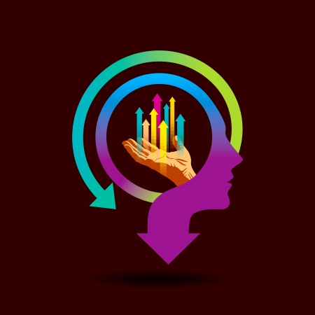 business mind: business idea Illustration
