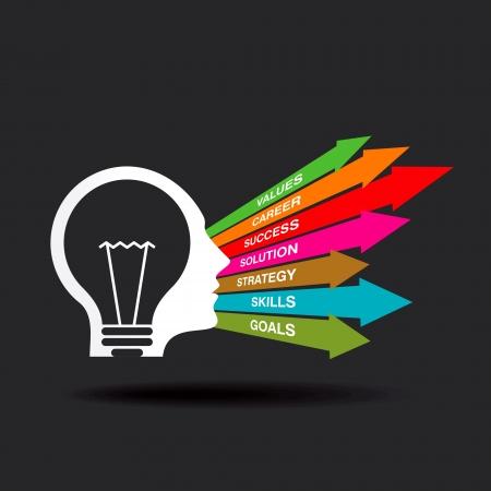 grafico vendite: idea di business Vettoriali