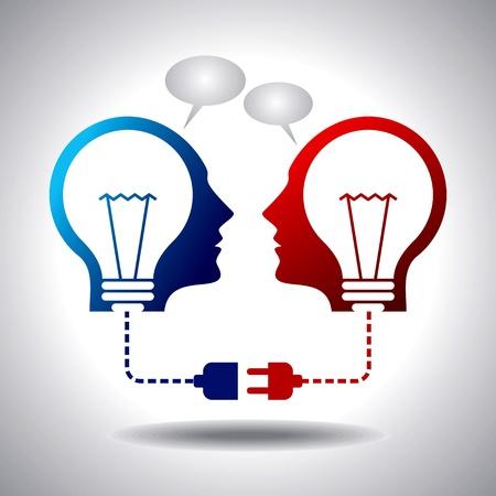 Geschäftsidee Verbindung