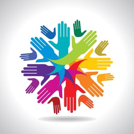 synergy: el trabajo en equipo concepto