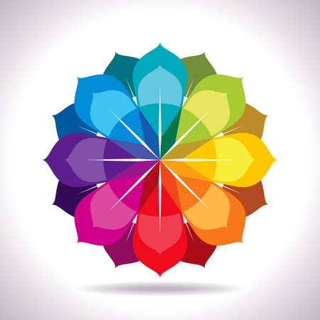 concentric circles: creative abstract colorful design Illustration