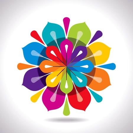 crative abstrakte farbenfrohe Design