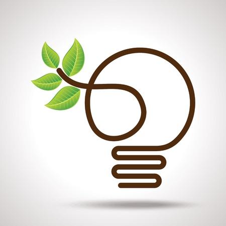 ampoule: id�e vert pour la terre Illustration