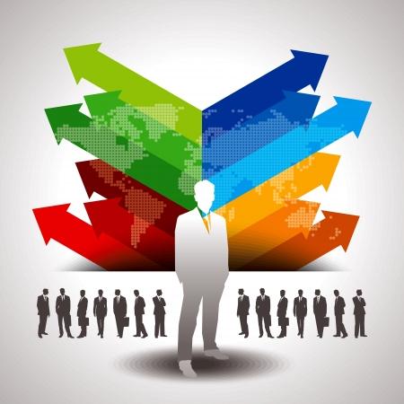Colorful Business Hintergrund Vorlage Illustration
