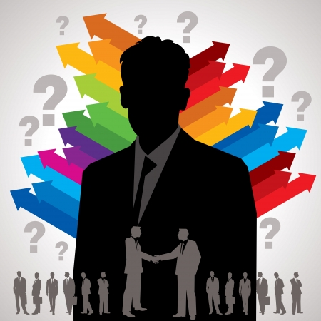 kreative Business-Hintergrund-Vorlage Illustration