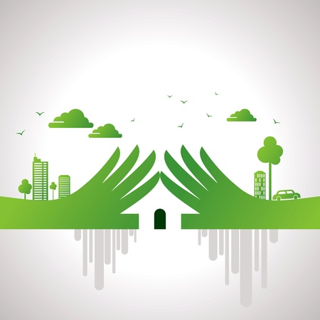 home protection: eco friendly concept