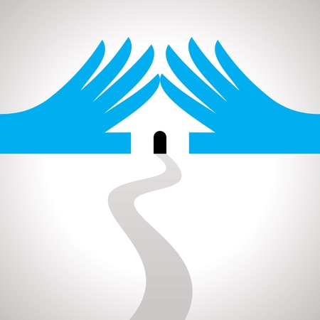 protection idea, concept of save house Stock Vector - 19466085