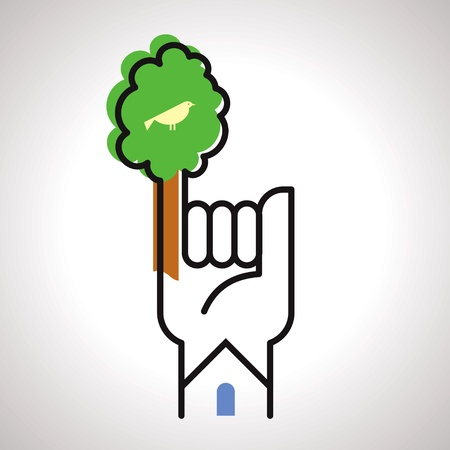 save tree concept Vector