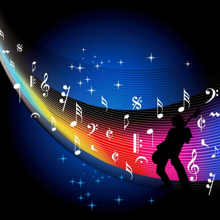 music background vector Stock Vector - 19466680