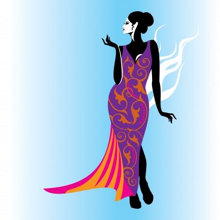 fashion woman illustration Vector