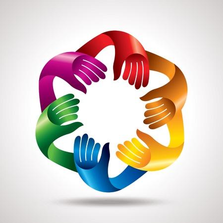 unity is strength: business meeting teamwork vector