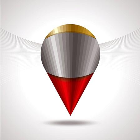 alloy: glsss glossy shield on metal grid Illustration