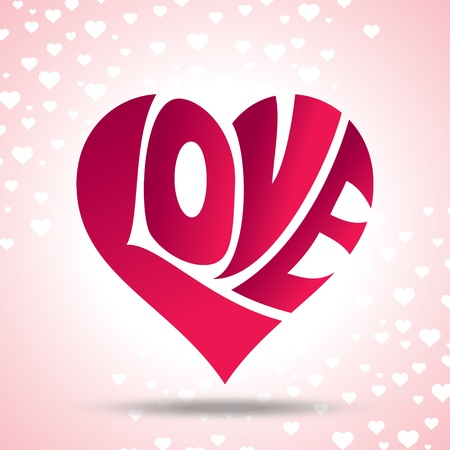 amour: vector of love heart