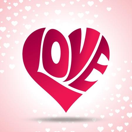 vector of love heart Stock Vector - 19466659