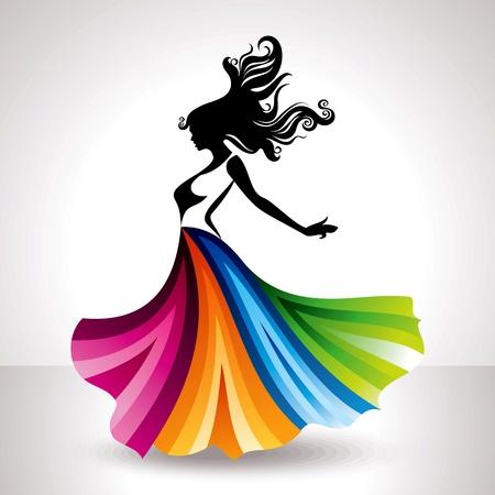 ilustraci?n moda mujer Ilustración de vector