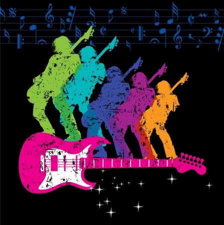 rock guitarist: musical background