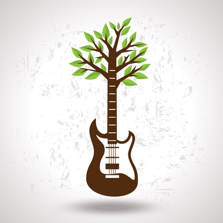 creative musical tree Vector