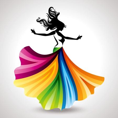 moda ropa: ilustraci?n moda mujer Vectores
