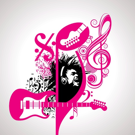 event: Abstract musical background for music event design Illustration