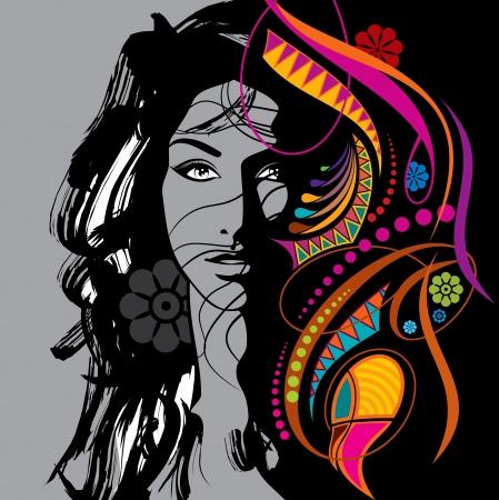 kreative Mode schöne Frau Illustration